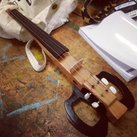 Handcrafted (by me!) electric violin.