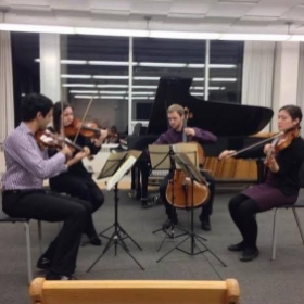 Performing Bartok's first string quartet at Cleveland Institute of Music, fall 2013