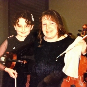 My mother and me before one of my first orchestra concerts
