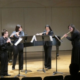 Performance with Northridge Flute Quartet at California State University, Northridge.