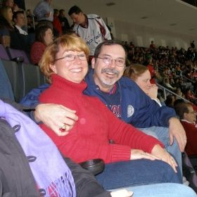 At a Washington Capitols hockey match, 2009