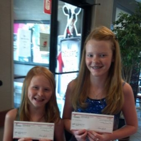 Winners of Chic Fil a  singing contest