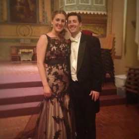 Me and Dr. Jeffrey Benson after a performance of Haydn's The Creation.