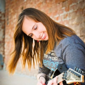Playing my beautiful Ibanez S-Series electric guitar.