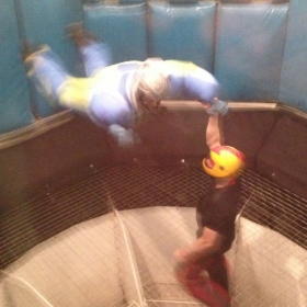 Me indoor skydiving on my birthday!