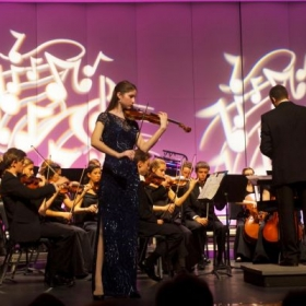 Performing Vieuxtemps Violin Concerto in D Minor in 2012 after winning the Vero Beach Concerto Competition.