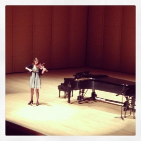 Performing Solo Bach at Lynn University performance hall.