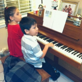 A happy student duet!