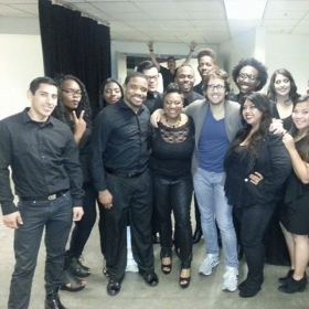 Ja Ronn & FLOW with Josh Groban after his show at the HP Pavillion (San Jose, CA)! It was an honor to sing background for him!