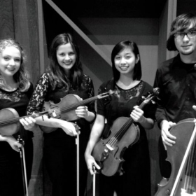 Mozart String Quartet recital at Bowling Green State University, Ohio 2014