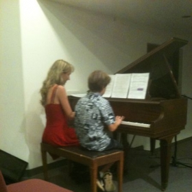 Mother and son duet.