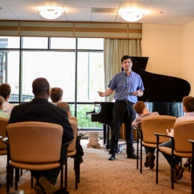 Presenting my students in the recital on June 8th, 2014.