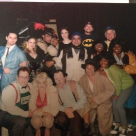 Little Shop of Horrors. I'm in the bright green jacket (right side) as Chiffon!