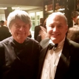 Livingston Symphony Orchestra Maestro Istvan Jaray and myself after the performance of G.Mahler Symphony #1.