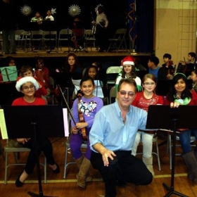 The 5th grade string orchestra, Christmas Concert