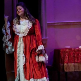 This is singing Porgi amor from Act II of The Marriage of Figaro at Belmont University
