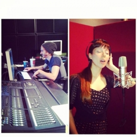 "Recording ""My Heart Will Sing"" by A Loud Sound (the writing collective I am a part of) at Studio 301 at UTA"