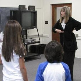 Teaching singing to a class of young actors at the SAG Conservatory