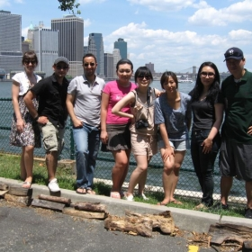 Excursion with international students in New York City in 2010