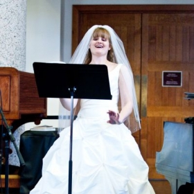Singing at my wedding