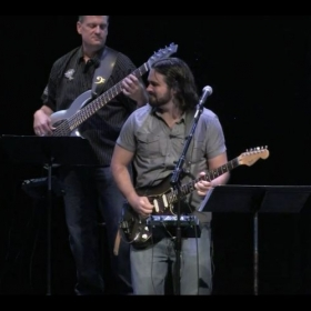 Playing blues solo live!