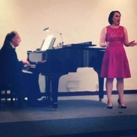 Performing in Rome, Italy at the American University of Rome's Summer Vocal Institute