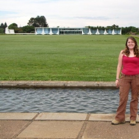 In front of the Brazilian White House - Brasília