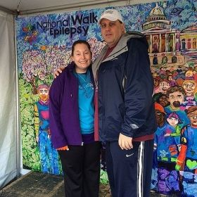 With my fiancee Al, at the National Walk For Epilepsy 2014