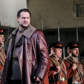 Dan Collins (far right) in the Met's 2014 production of Prince Igor.