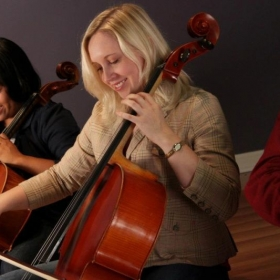 Performing with my cello quartet Love4Cello