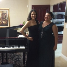 With my duo partner, Alyssa after our Luly Duo Benefit Concert in Ft. Lauderdale, FL
