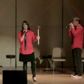Performance with a capella group Plumbers of Rome