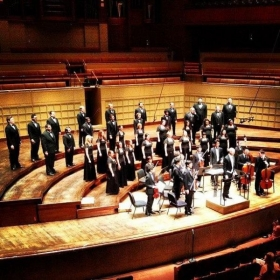 Cal State Fullerton University Singers in Dallas, Texas performing for at the Dallas Symphony Hall at the National Conference for the ACDA.