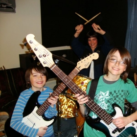 3 of my private students Jamming away!