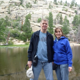 Penny and Ken, this time in the Rocky Mountains!