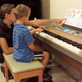 Teaching a young student!