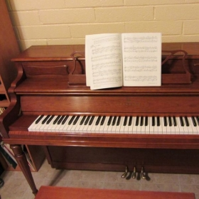 My acoustic upright piano is regularly tuned :)