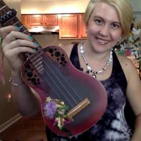 Flaired out ukulele =)