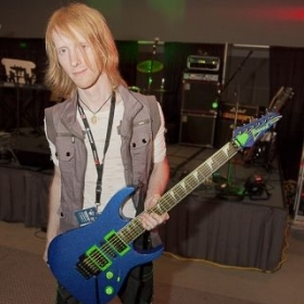 Before a show with my customized guitar (I can also advise you on painting/customizing your own guitar!)