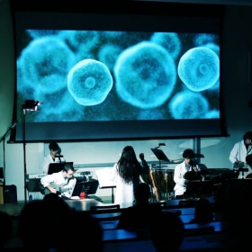 Performing with composer Fay Wang in a residency at Dartmouth's Hopkins Center for the Arts.