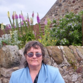 Ms. Judy on the Island of Lindisfarne, U.K.