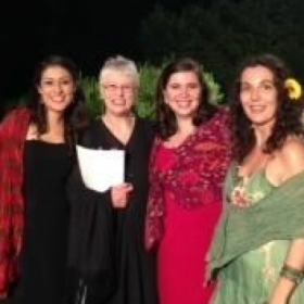 My students from Casentino Voice 2014, final concert with pianist Marian Bryfdir.