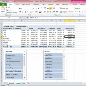 Learn how to make and utilize pivot tables with Excel.