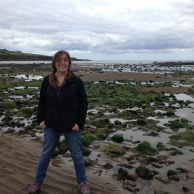 On the beach of the North Sea in Stonehaven, Scotland