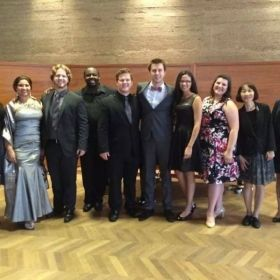 With my colleagues for the Schloss Mirabell Honorable Mention Winners Recital in Salzburg, Austria.