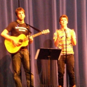 "An old CB East talent show photo. Playing ""Jenny"" by Flight of the Conchords."