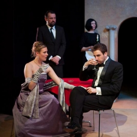 "Performing as the ""Duke"" in Middleton's ""Women Beware Women"" at the Royal Conservatoire of Scotland"