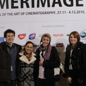 (middle with hat) Camerimage Poland - competing in student etudes for MAYA student film