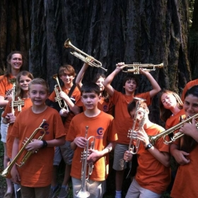 Working with the Middle School session at Cazadero Music Camp!