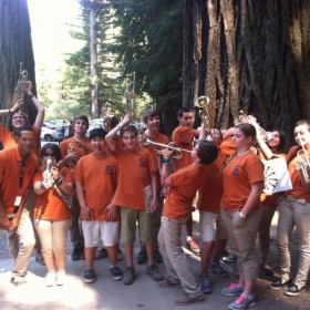 Having an awesome time before the concert during the Jr. High session at Cazadero Music Camp!